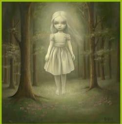 La niña del escondite
