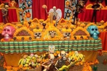 Celebración del día de muertos en Puebla
